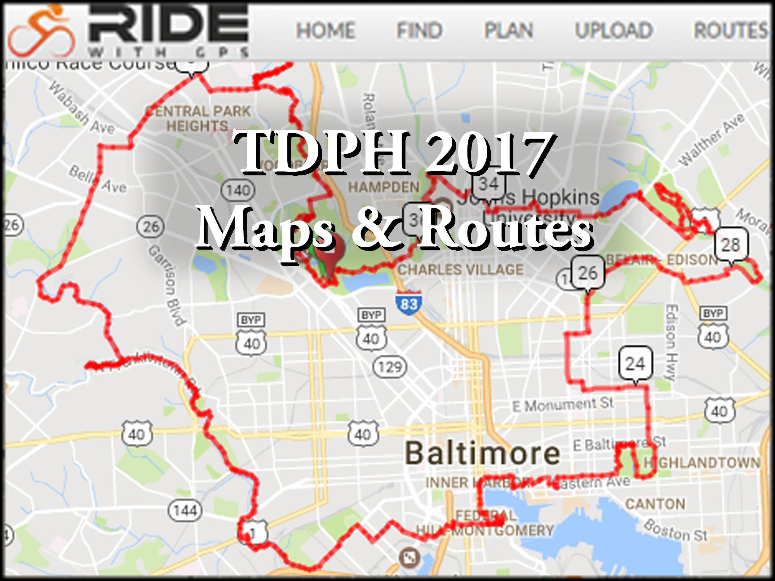 Routes & Maps | Tour dem Parks, Hon! through Baltimore ...